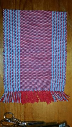 Warp: red and blue Weft: blue 100% cotton