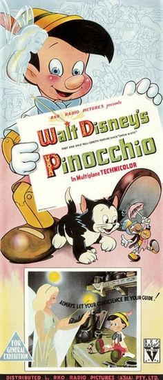 *PINOCCHIO ~ 1940 i think the first movie i ever saw in a movie theater. i always was titilated by the island of bad boys.