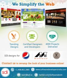 #Startups, #entrepreneur We Simplify the Web. Contact #SDI to revamp the look of your #business online!