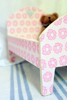 Homemade doll's bed