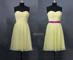 Hey, I found this really awesome Etsy listing at http://www.etsy.com/listing/153577546/yellow-bridesmaid-dress-chiffon