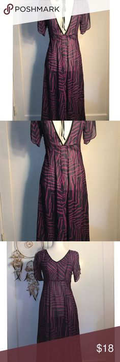 NWT FOREVER 21 SHEETH MAXI DRESS SZ SMALL NWT ADORBS FOREVER 21 SHEETH MAXI DRESS SZ SMALL SHEER CAN BE USED AS A FLOWY BEACH COVER UP AS WELL LIGHT WEIGHT MATERIAL ( FIRST PICTURE IS THE ADORABLE V PLUNDGE Forever 21 Dresses Maxi