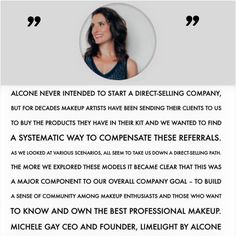 Where did LimeLight by Alcone come from? It came from our want to support our Alcone makeup client's natural recommendations to their friends, clients, and more.