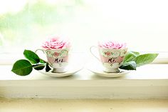 Mrs and Mr teacups