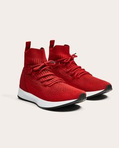 huge discount e653c 4e9b4 CONTRASTING RED HIGH TOP SNEAKERS - SHOES AND ACCESSORIES