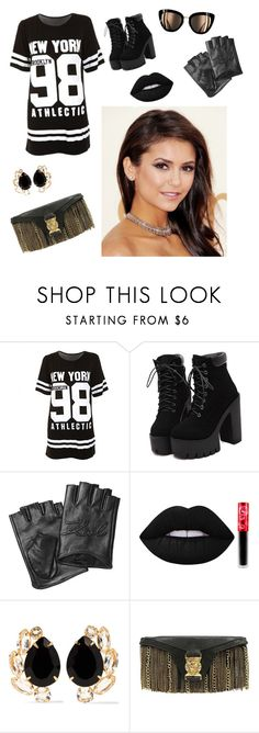 """Untitled #295"" by mbubbles109 ❤ liked on Polyvore featuring Karl Lagerfeld, Lime Crime, Bounkit and Balmain"