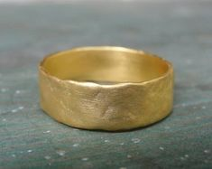 Handmade unique gold & silver jewelry by AurumJewelry on Etsy Rustic Wedding Bands, Handmade Wedding Rings, Gold Wedding Rings, Gold Band Ring, Gold Bands, Ring Ring, Flat Engagement Rings, Art Deco Wedding Inspiration, Wedding Ideas