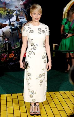 Michelle Williams in Prada at the premiere of 'Oz the Great and Powerful' in LA