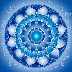 Vector Art : abstract blue pattern, mandala of vishuddha chakra Mandala Art, Mandala Drawing, Mandala Painting, Dot Painting, Vishuddha Chakra, Elefante Hindu, Spirited Art, Unicorn Art, Sacred Geometry