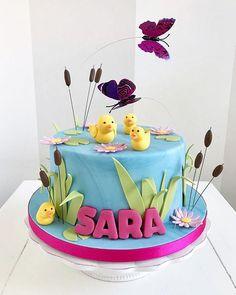 Happy Birthday, Birthday Cake, Sugar Art, Cake Decorating, Bakery, Photo And Video, Desserts, Bella, Instagram