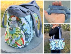 DIY Diaper Bag Tutorial | Sew a medium sized diaper bag with plenty of pockets for staying organized!