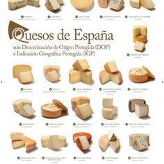 Spain has 27 original branded cheeses. Learn more about what wine to pair them with, their flavours, textures, colours, aromas, and origins!
