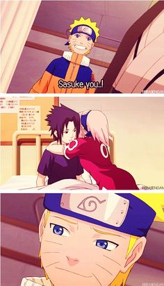 LOOK, HE GETS IT. Naruto gets that Sakura loves Sasuke. That's why he made that face in the bottom screenshot.
