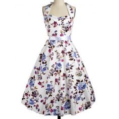 SHARE & Get it FREE | Vintage Halter Floral Fit and Flare Dress For WomenFor Fashion Lovers only:80,000+ Items·FREE SHIPPING Join Dresslily: Get YOUR $50 NOW!