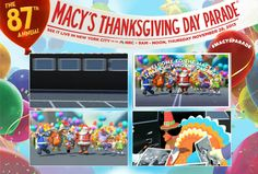I just created my Macys Thanksgiving Day Parade custom postcard. Click here to check it out.