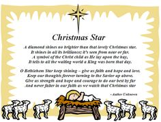 When we were young we would have Christmas with Gran and Gramps on Christmas Eve and after we would open presents we would go outside looking for the Christmas Star before going home....Great memories
