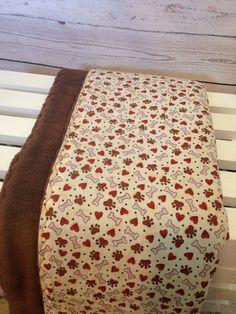 Dog BlanketFleece Brown BlanketCrate by DarlenesNeedlesnPins