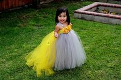 Gray TuTu Dress. Wedding. Flower Girl. Birthday. $70.00, via Etsy.
