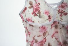 Cute Lolita Girly Floral Transparent Top