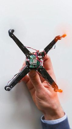 This compact, foldable drone inspired by origami can unfold itself automatically and take flight within a fraction of a second.