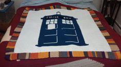 Doctor Who Tardis Throw Blanket by KsCrochetedCreations on Etsy, $35.00
