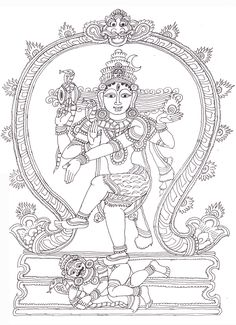 Nataraja Lord of the Dance Coloring Page at Storytime Yoga ...