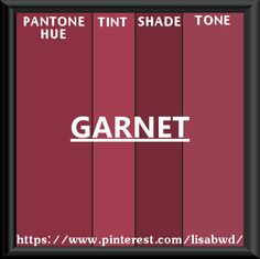 PANTONE SEASONAL COLOR SWATCH GARNET