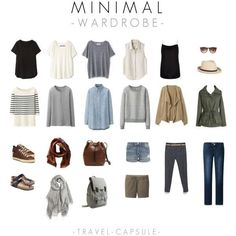 Outfits and Looks, Ideas & Inspiration travel capsule - minimal wardrobe - Go to Source - Travel Wardrobe, My Wardrobe, Travel Outfits, Summer Wardrobe, Classy Outfit, Travel Capsule, Travel Packing, Minimal Wardrobe, Fashion Capsule