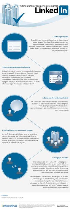 Infográfico: Como otimizar seu perfil de empresa no LinkedIn