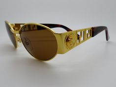 d63bc9a60498 Rare Vintage Gianni Versace Sunglasses Mod S38 Col 030 New Old Stock 1980 s  by VSOx on