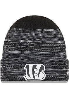 db4cab2e8 New Era Cincinnati Bengals Black 2017 Official TD Knit Hat