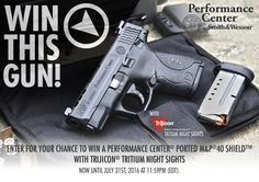 Enter for your chance to win the Performance Center® Ported M&P®40 SHIELD™ Pistol with Trijicon Tritium Night Sights Sweepstakes.