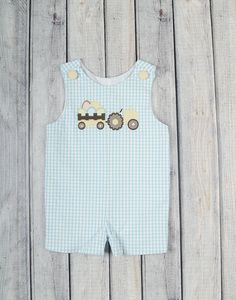 f40df0c64e Look at this Aqua Gingham Egg Tractor John Johns - Infant   Toddler on  today!