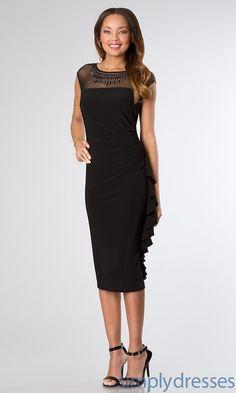 Dress, Knee Length Cap Sleeve Dress - Simply Dresses