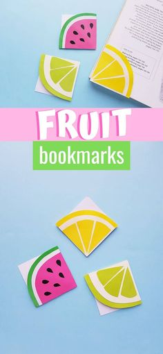 Your kids will love making these easy origami bookmark fruits! Make a watermelon, a lemon, and a lime with the printable template and these easy instructions. Fruit Origami Corner Bookmark. How to make a corner bookmark. How to make an origami bookmark. summer craft for kids. watermelon craft. lemon craft. lime craft. Easy Origami, Origami Art, Origami Boxes, Origami Flowers, Rainy Day Crafts, Summer Crafts For Kids, Kids Crafts, Bookmark Craft, Origami Bookmark