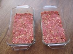 Place in meatloaf glassware