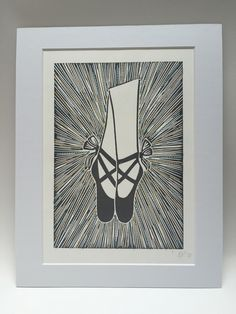 Ballet Shoe Stitch and Print £25.00