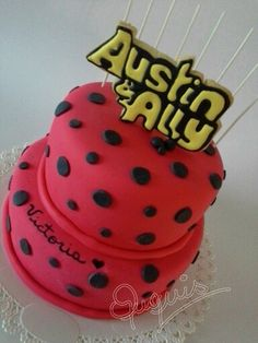 Could Do A Guitar Pull Apart Cake With Austin And Ally Symbol On It Or