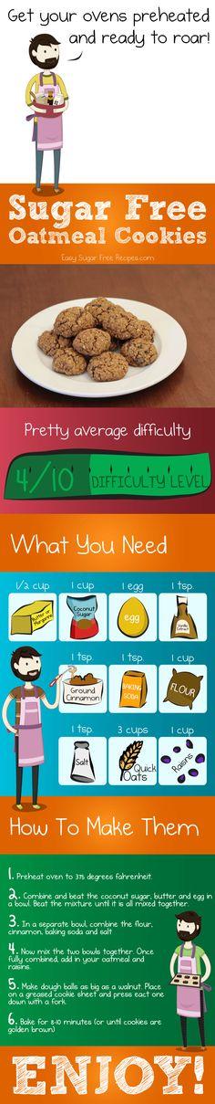 Diabetic sugar free oatmeal cookie recipe