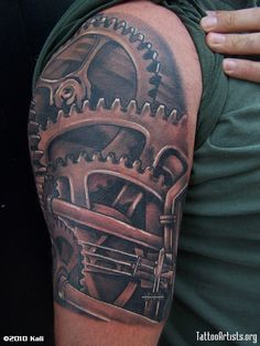 Viewing Gallery For - Mechanical Tattoo Sleeve