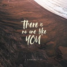 """How great you are, O Sovereign LORD! There is no one like you. We have never even heard of another God like you!"