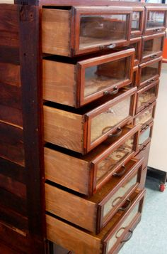 drawers - I love the glass fronts!