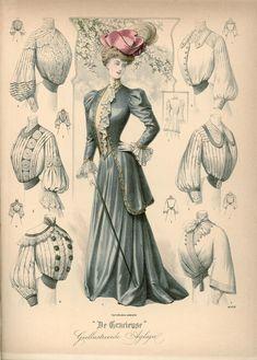 [De Gracieuse] Visite-toiletten en verschillende blouses (March 1905)
