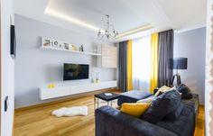 Apartament de 2 camere amenajat modern cu accente de galben - imaginea 9