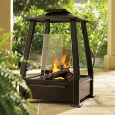With a Monterey Outdoor Fireplace, you can enjoy all the character of a real wood fire, without the usual hassle or mess. There's no need for wood, propane, or electricity. Clean-burning Real Flame® Gel generates a warming fire beneath life-like logs with the look of natural oak. Perfect!
