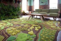 Indoor plants in a green living room