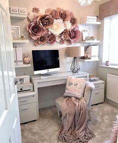 home office ideas for women * home office ; home office ideas ; home office design ; home office decor ; home office organization ; home office space ; home office ideas for women ; home office setup Cozy Home Office, Home Office Space, Home Office Decor, Office Setup, At Home Office Ideas, Office Workspace, Bedroom Workspace, Home Office Colors, Desk Setup