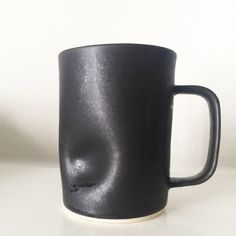 Tall thumbdent mug in iron by mud + stone Mud, Iron, Tableware, Dinnerware, Dishes, Place Settings, Porcelain
