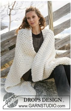 Free knitting patterns and crochet patterns by DROPS Design Afghan Patterns, Knitting Patterns Free, Free Knitting, Crochet Patterns, Free Pattern, Drops Design, Knitted Afghans, Knitted Blankets, Crochet Design