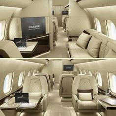 One of the jets availble for hire seen on the inside